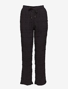 Pant w. checks - spodnie na co dzień - black