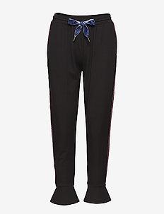Sweatpants w. volant cuff - BLACK