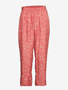 Pants in dot print w. elastic waist - casual broeken - canyon rose