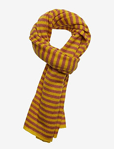 Scarf in mohair w. stripes - CANYON ROSE STRIPES