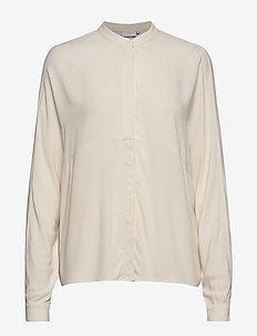 Shirt w. cutline at body - CREME