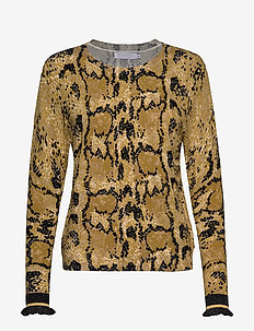 Sweater in Pyton print - YELLOW PYTON