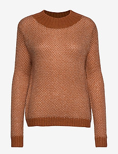 Knit w. mixed pattern - CASHEW