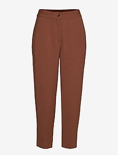 Pants w. elasticband - Sille fit - CHOCOLATE NUT
