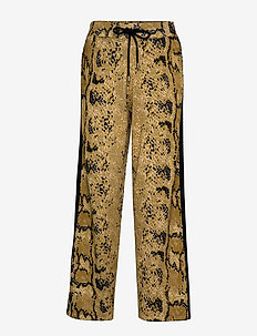 Knitted pants in pyton print - YELLOW PYTON