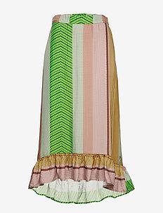 Skirt in stroke print - STROKE PRINT