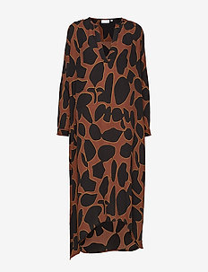 Dress w. long sleeves in lava print - LAVA PRINT