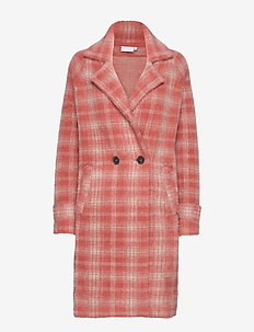 Jacket in hairy check - CHERRY PUF