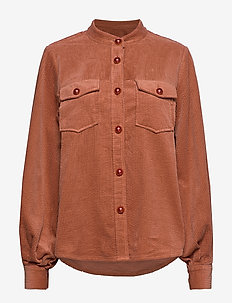 Jacket in corduroy - ORANGE MIST