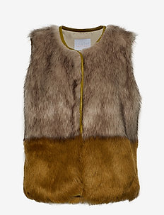 Vest in faux fur - CRESS GREEN