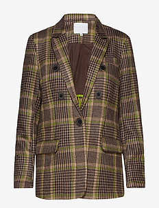 Suit jacket in checked scuba - MOSS CHECK