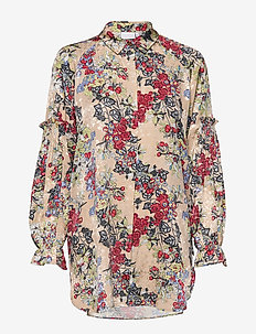 Shirt in winter berry print - WINTER BERRY PRINT