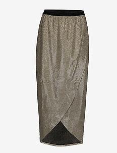 Skirt in glitter - SILVER GREY