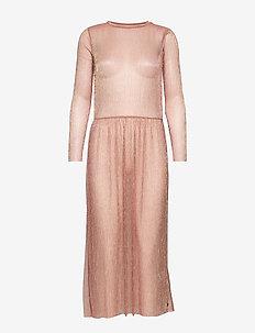 Dress long sleeved in lurex - COBBER
