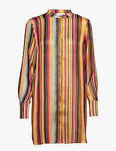 Shirt in multi color print - MULTI STRIPE PRINT