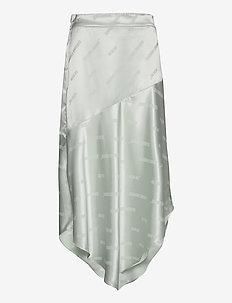 Asymmetric skirt - spódnice do kolan i midi - mint