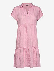 Dress w. small collar - paitamekot - bubble gum