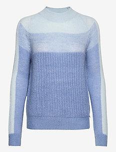 Sweater w. degrade colors - trøjer - cloud blue