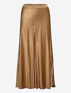 Skirt on bias w. cutline - midi kjolar - camel