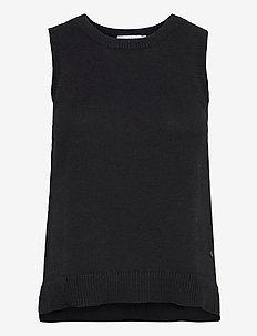 Knit vest in seawool - Seawool - stickade västar - black