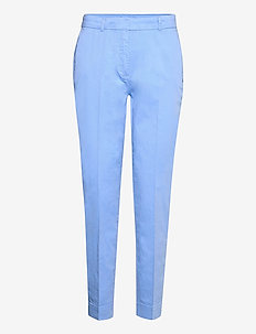 Chino pants w. press fold and paspe - chinos - airy blue