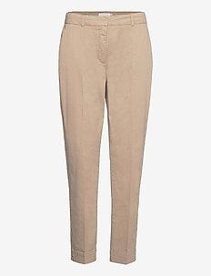 Chino pants w. press fold and paspe - chinos - khaki