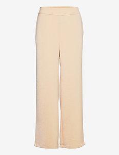 Pants w. elastic waist - vida byxor - golden beige