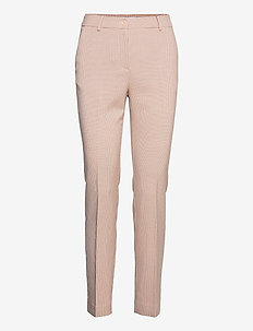 Pants with press folds - LUCIA fit - collants thermiques - cream/pink check