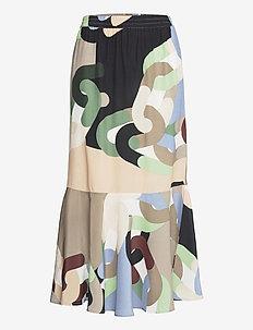Skirt in chain print - lange rokken - chain print