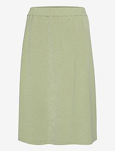 Skirt on bias - midinederdele - mineral green