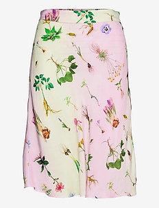 Bias skirt in Flower Garden print - - midi rokken - flower garden print