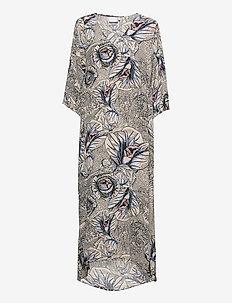 Dress in Garden print - EcoVero Len - zomerjurken - garden print