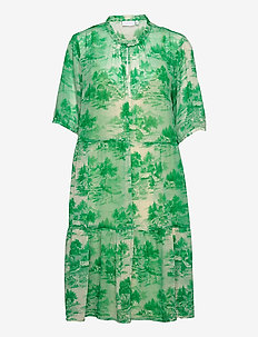 Dress in Wallpaper print - Recycled - sommerkjoler - wallpaper print