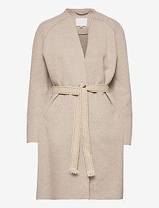 Coat wool felt - wool coats - camel melange