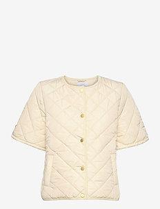 Quilted vest - quiltade jackor - cream