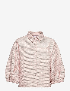 Quilted jacket w. volume sleeve - quilted jassen - light rose