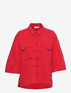 Sporty light jacket - clothing - poppy red