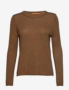 Cashmere o-neck - CHOCOLATE NUT