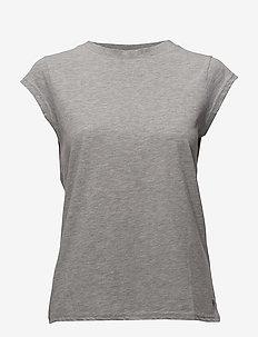 Basic tee - t-shirty basic - light grey melange