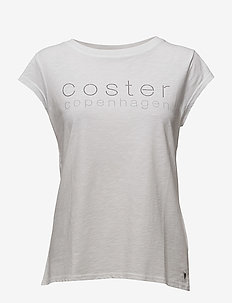 T-shirt w. Coster Logo - logo t-shirts - white