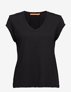 Basic tee w. v-neck - BLACK