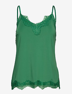 Strap top w. lace - FORREST GREEN