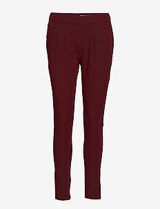 Pants w. Jersey back - Luca - broeken med skinny fit - bordeaux