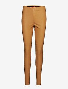 Leather stretch leggings - Mynte - GOLD SPICE