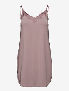 Strap dress w. lace - bodies en onderjurken - powder
