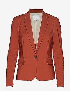 Suit jacket - BURNT HENNA