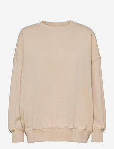 CC Heart oversize sweatshirt - Orga - sweaters - vanilla