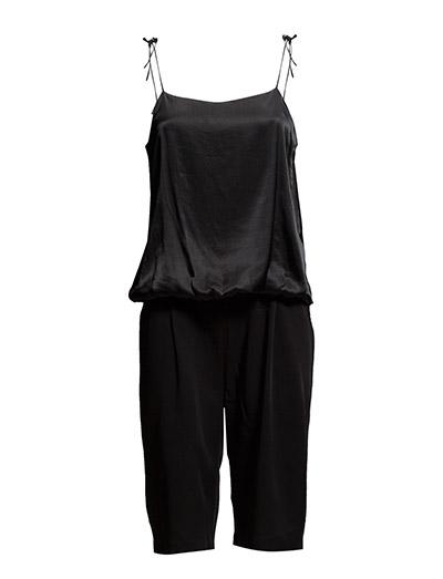 Jumpsuit w. shorts - BLACK