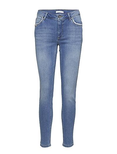 Slim fit jeans - ankle length - WASHED INDIGO BLUE