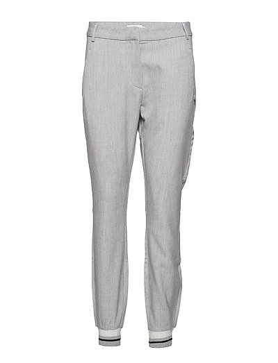 7/8 Pants w. bottom rib - LIGHT GREY MALANGE